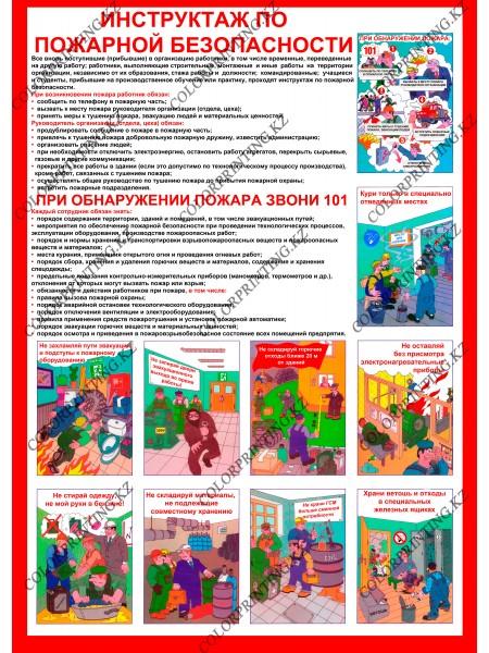 Инструктажа по пожарной безопасности 1 плакат