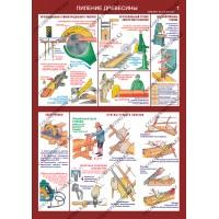 Безопасность труда при деревообработке - комплект из 5 плакатов