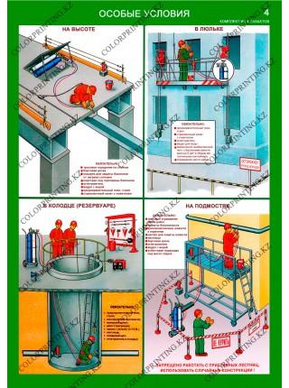 Организация рабочего места газосварщика комплект из 4 плакатов
