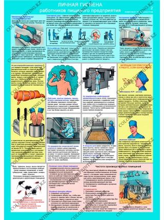 Личная гигиена работников пищевого предприятия комплект из 2 плакатов