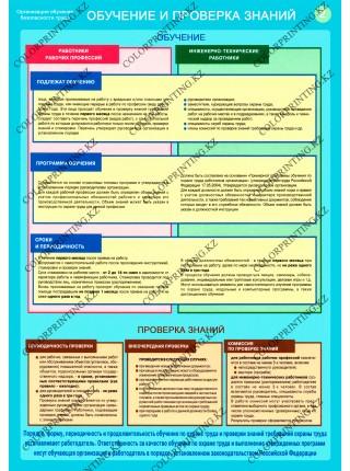 Организация обучения безопасности труда комплект из 2 плакатов
