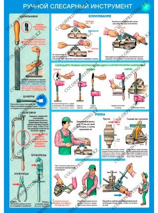 Ручной слесарный инструмент комплект из 3 плакатов