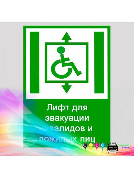 Лифт для эвакуации инвалидов и пожилых лиц